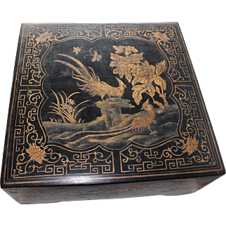 19th Century Chinese Lacquered Sweetmeat Box
