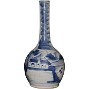 Antique Chinese Blue and White Bottle Vase