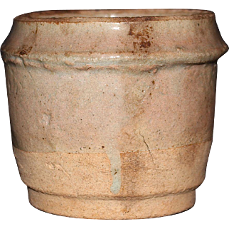Chinese small Pottery Jar with Translucent Celadon glaze