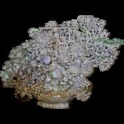 Pair of Chinese Massive Lavender Jade Flower Baskets