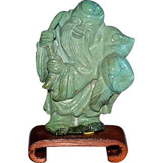 Chinese Carved Turquoise of Lao-Shao