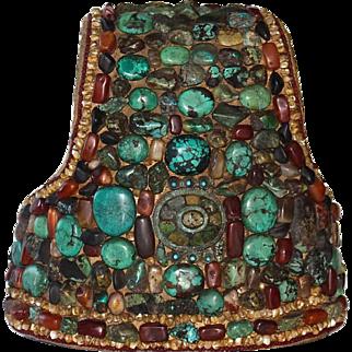 Antique Tibetan Ritual Headdress, Perak