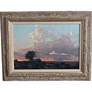 """Landscape Oil Painting by James Reynolds """"West from Winslow"""""""