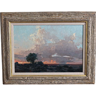 "Landscape Oil Painting by James Reynolds ""West from Winslow"""