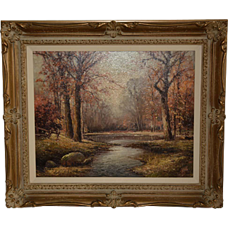 "Oil Painting ""Sawkill River"" New York by Robert William Wood"