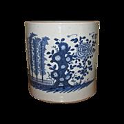 Antique Chinese Large Blue & White Porcelain Bitong