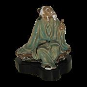 Antique Shekwan Porcelain Older Male Figure