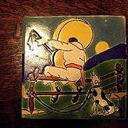 Vintage San Jose tiles from the San Jose Tile Workshops of Ethel W. Harris-3 ea