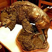 "bronze sculpture "" Rampage "" #13 of 15 by Rusty Phelps-N. Mexico Colorado artist"