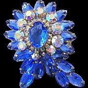 Juliana Big Bold Beyond Gorgeous Show Stopping Rhinestones Pin / Brooch