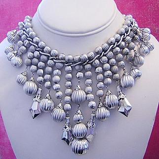 1960's BOLD Beautiful Baubles Bib Statement Necklace