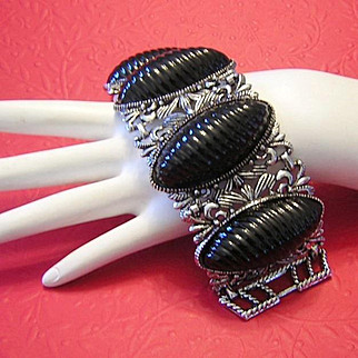 1950's / 60's Sultry 2 Inch WIDE Statement Bracelet