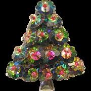Vintage WATERMELON Rivoli Christmas Tree Pin / Brooch
