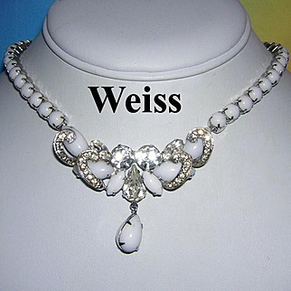WEISS Quintessential Summer Glass & Rhinestone Necklace
