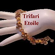 Crown TRIFARI ETOILE  & Rhinestones Extremely Rare Bracelet