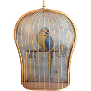 Parrot Cage French Eglosmise Wall Plaque 1950's