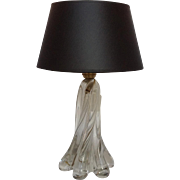 French Clear Glass Table Lamp