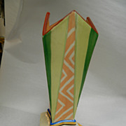 Art Deco Chevron Design Japanese Vase