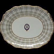 Antique Oval Armorial Platter 'LABORE ET FIDE'