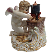 Meissen Porcelain Labors of Cupid Figure