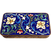 Floral Enamel Stamp Box French