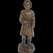 Italian Carved Wood Male Figure