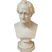 German Parian Bust Of Goethe 19th C.
