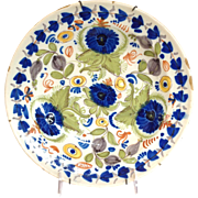 """Spanish Faience 12"""" Charger 19th c"""