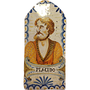 Antique Portrait Italian Tile
