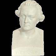 German Parian Bust 'E. Lessing' 19th C.