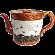 Japanese Kutani Cranes Teapot