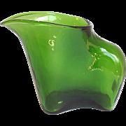 Modernist Pitcher Green Glass