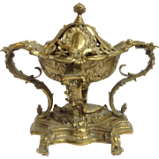 "Antique Centerpiece Bronze Gilt 12"" Ornate!"