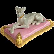 Whippet Greyhound Dog Pink Pillow English