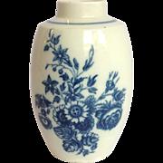 Tea Caddy Porcelain English 18th Caugley J&S Wyatt Label