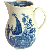 Worcester Cream Pitcher Chinoiserie 1760's