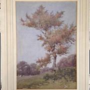 Landscape Watercolor Signed Cecilia Jaquet  1889-1915