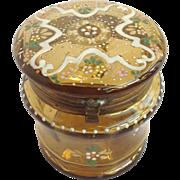Bohemian Glass Box Enameled