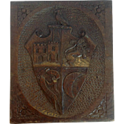 Armorial Panel Leicester Carved English Oak