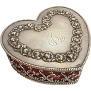 Heart Box Sterling Garland Of Roses