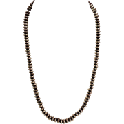 Native American Pawn Silver Bead Necklace Hand Made