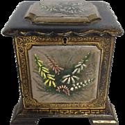 Victorian Jewelry Box Paper Mache Lacquer