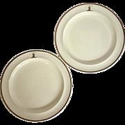 "Pair of Wedgwood Armorial Creamware Plates 'In Deo Omnia' 10"""
