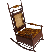Miniature Rocking Chair Box With Picture Frame Back