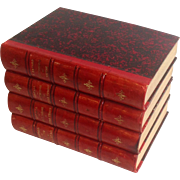 Four Leather Bound Books Paris 1875