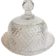 Cut Glass Cheese Dome and Underplate