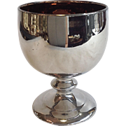 Silver Luster Goblet Antique English 4.5""
