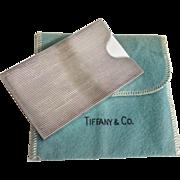 Tiffany Sterling Card Holder Open End 2003
