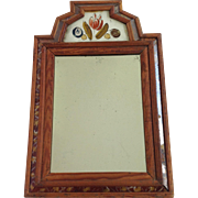 Small Eglomaise American Mirror 19th Century