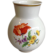 Meissen Orange Poppy Vase 5""